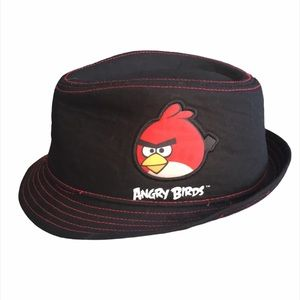 Angry Birds Fedora Hat, Black, Red